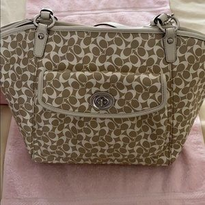 Coach over shoulder tote